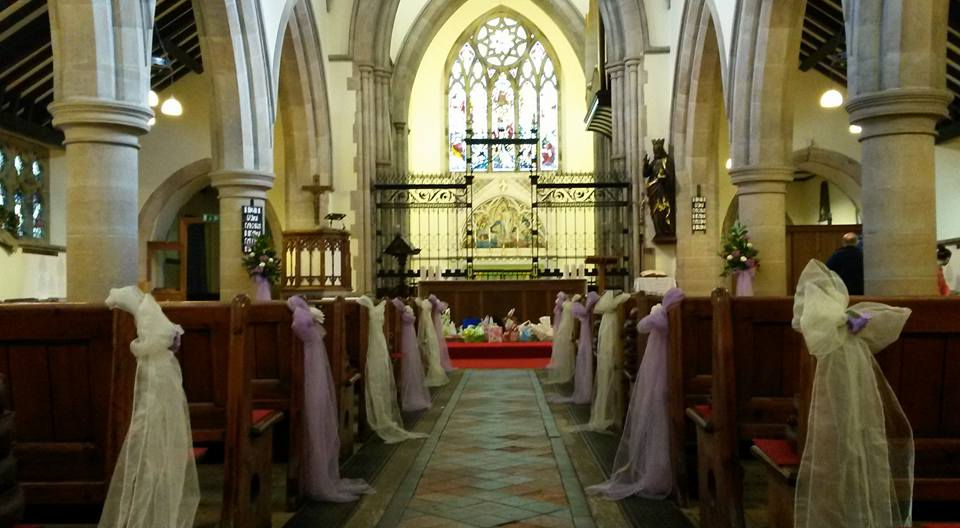 Church decorated for Harvest Festival